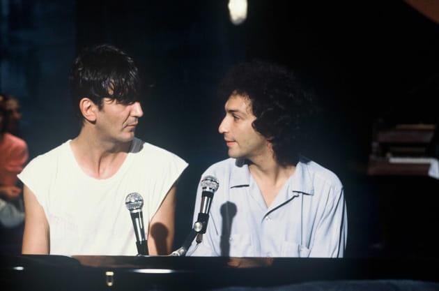 """Avec Michel Berger sur le plateau de """"Numéro un"""", en 1980"""