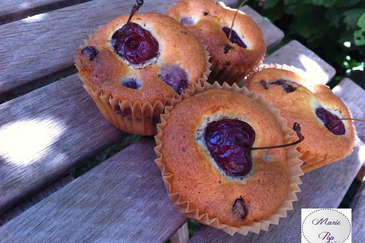 Muffins Cerises Chocolat au lait