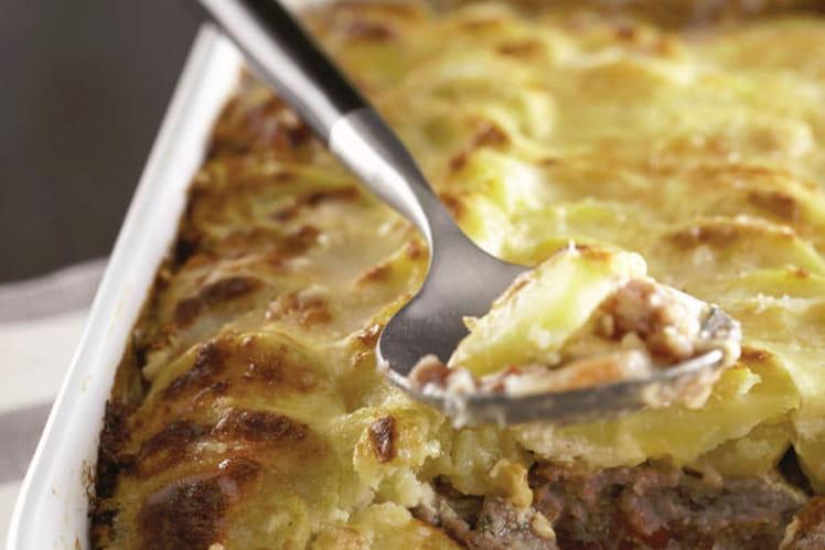 Gratin de Ratte du Touquet, veau et parmesan