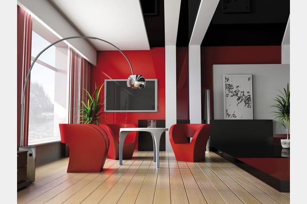 Un salon rouge design