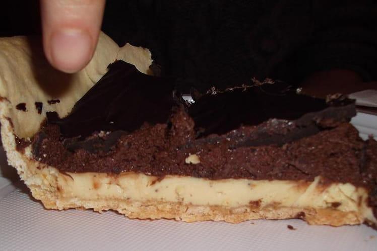 Tarte crousti-fondante aux trois chocolats