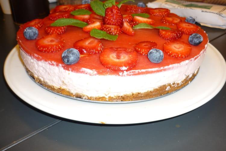 Cheesecake aux fraises gariguette