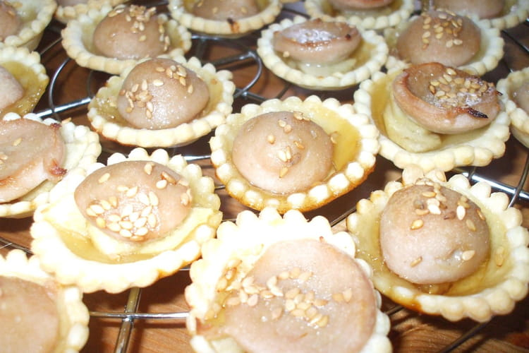Mini tartelettes pommes boudin blanc