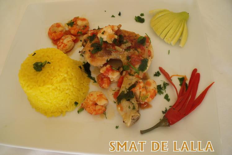 Curry de poulet aux crevettes