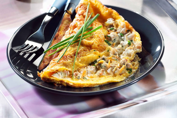 Omelettes aux coques