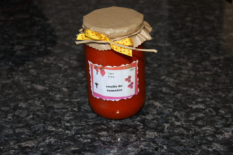 Coulis de tomates fraîches