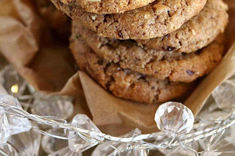 Cookies chocolat noir et les éclats d'amandes (sans oeufs)