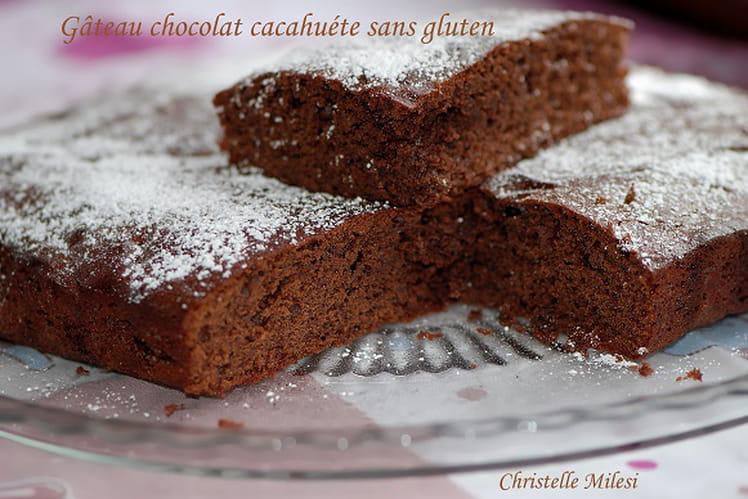 Gâteau chocolat cacahuète sans gluten