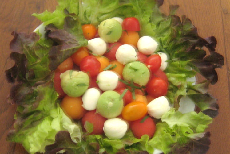 Salade melon pastèque