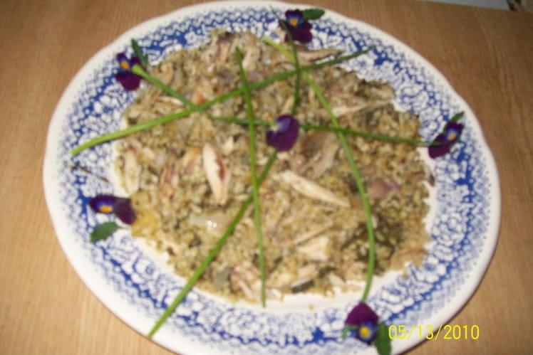 Boulghour à l'oseille et au poulet