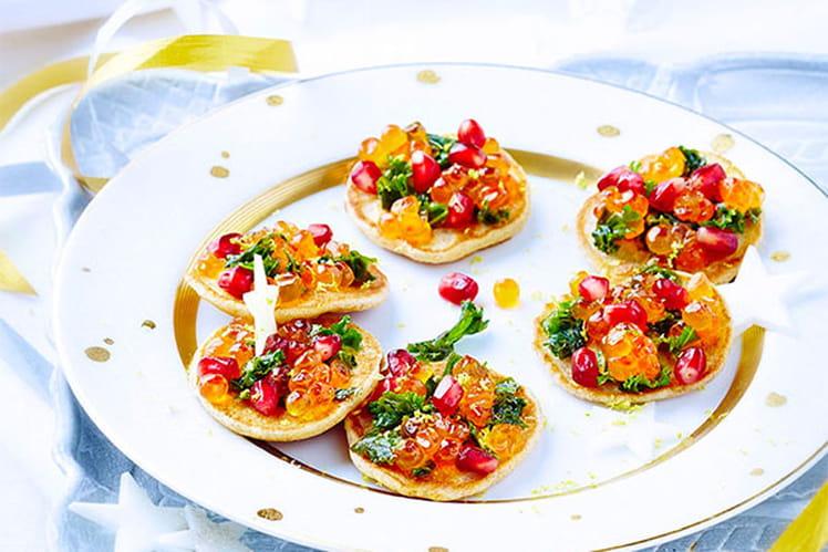 Blini de saumon pétillants
