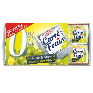 carré frais 0% olives et citron de elle&vire