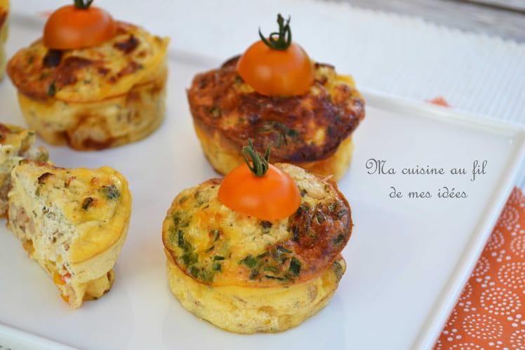 Petites tortillas aux tomates cerise, crevettes grises et fromage Chavroux