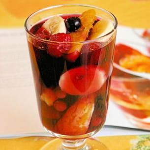 verrine de fruits en gelée