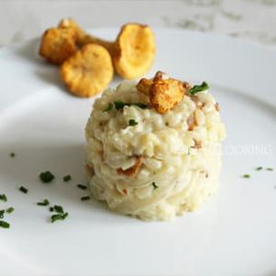 risotto à la dinde et aux girolles