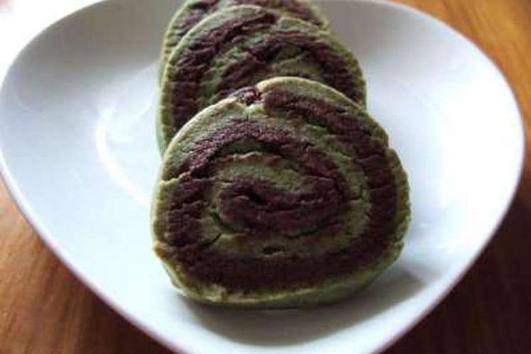 Sablés bicolores pistache-chocolat