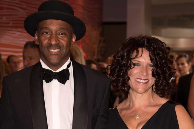 La légende du jazz Marcus Miller et sa femme Brenda