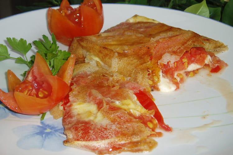 Tomates-mozzarella croustillantes