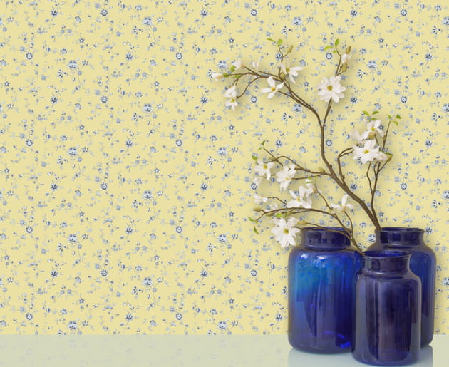 Papier peint Porcelain Floral par The Vintage Collection