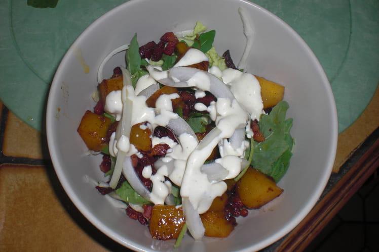 Salade tiéde de lardons à la mangue