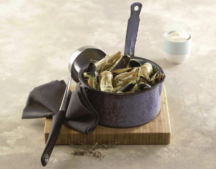Recette de ratte du touquet et moules la cr me safran la recette facile - Cuisiner la ratte du touquet ...