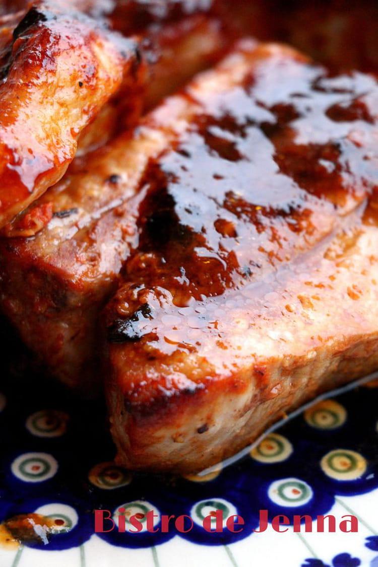 Recette de travers de porc marin s et grill s la recette - Cuisiner travers de porc ...