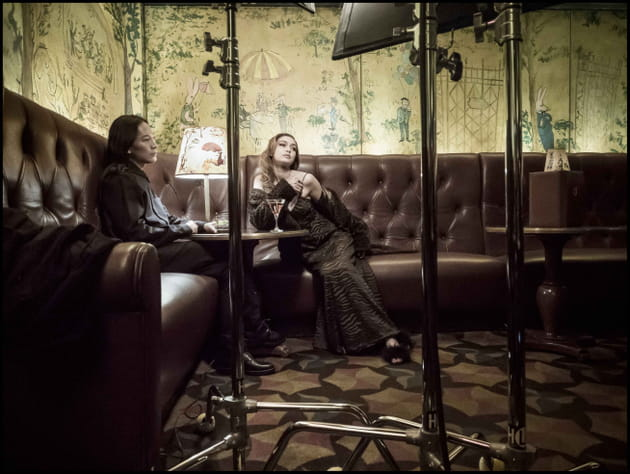 Gigi Hadid et Alexander Xang, concentrés