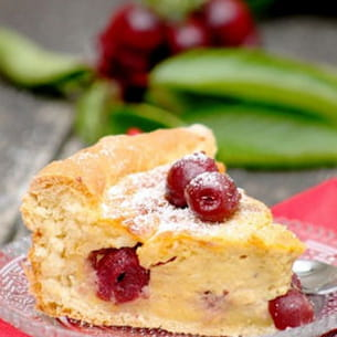 tarte briochée aux cerises