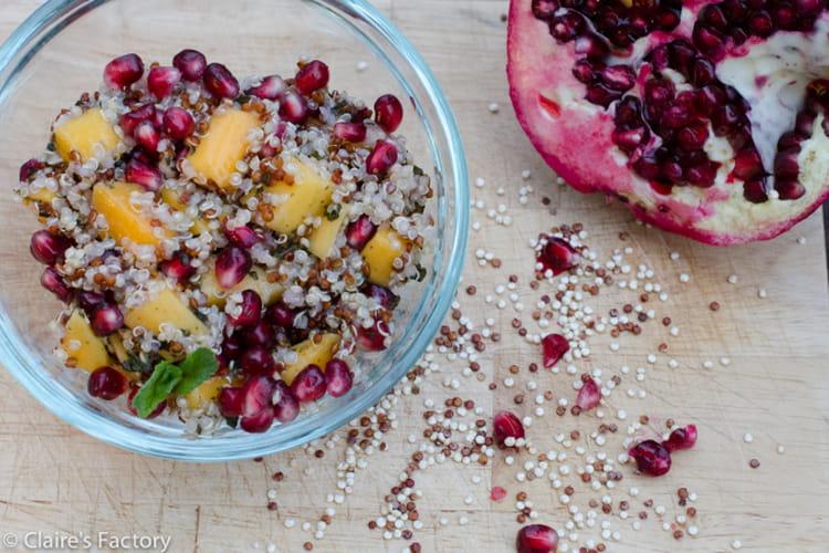 Salade Healthy – Quinoa, mangue, grenade et menthe