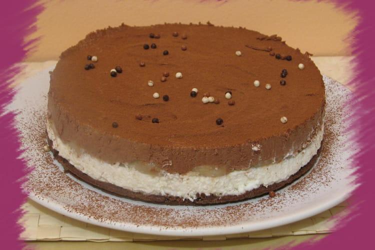 Dame blanche sous la forme d'un cheesecake