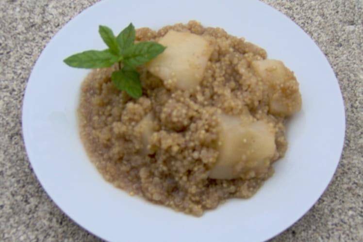Quinoa aux poires