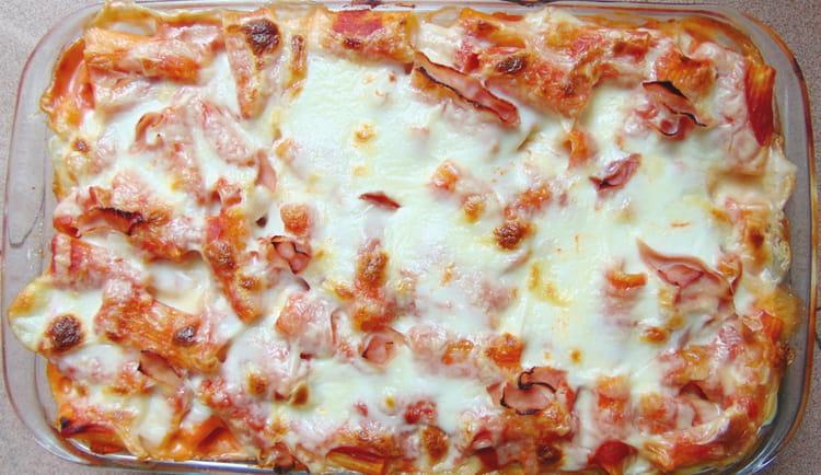 recette de p 226 tes au four tomate mozzarella et jambon la recette facile