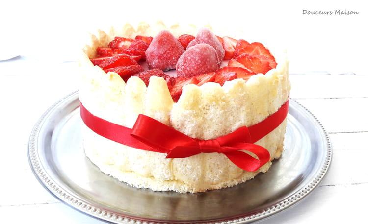 Charlotte vanill e aux fraises - Jeux de charlotte aux fraises cuisine gateaux ...