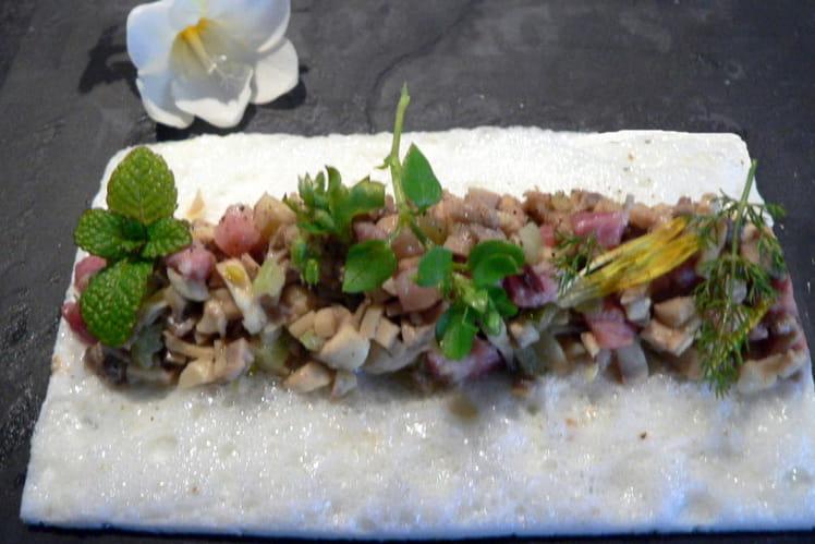 Omelette blanche aux champignons de Paris