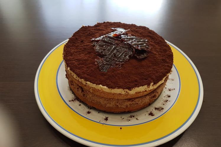 Gâteau façon tiramisu caramel au beurre salé