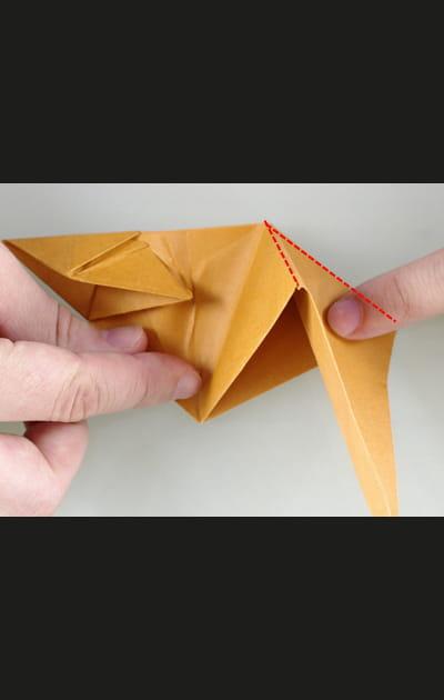 Origami chat - Etape 22