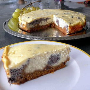 cheesecake marbré au pavot