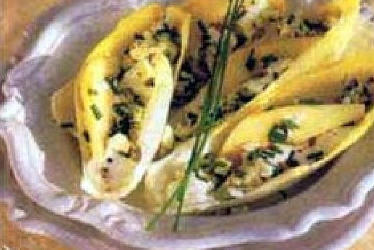 Salade d'endives aux poires et au roquefort