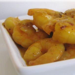 curry de crevettes au vinaigre