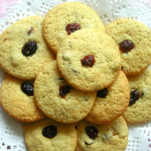 cookies cranberries