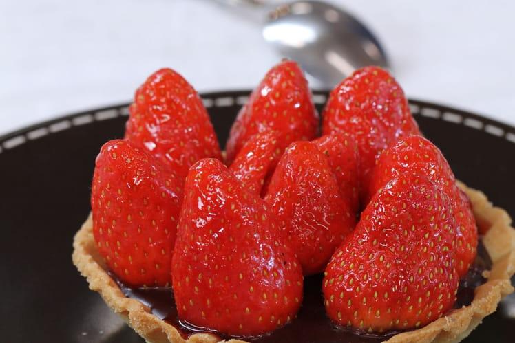 Tartelettes chocolat-fraises