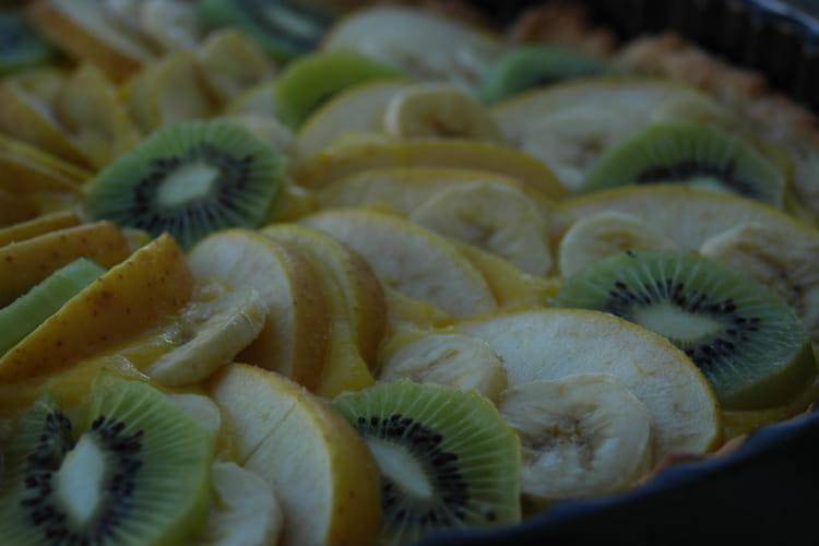 Tarte d'automne aux fruits et crème d'orange