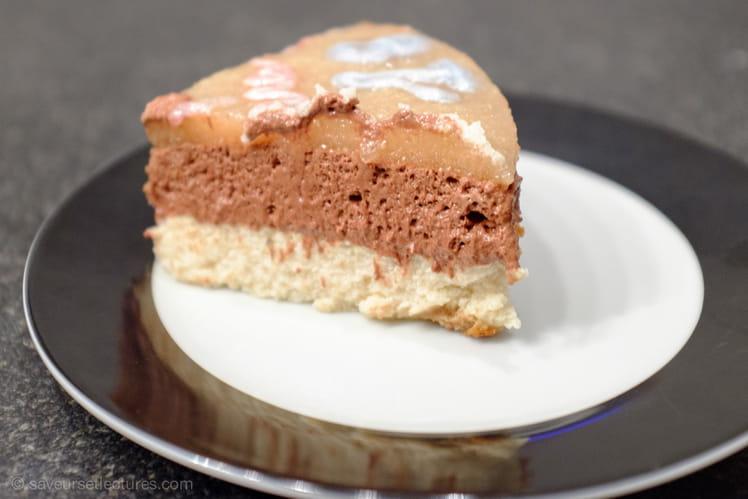 Bavarois tout léger poire-chocolat