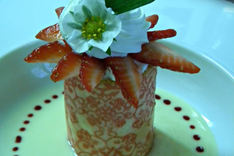 Mug aux fraises à la crème de citron
