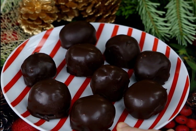 Truffes chocolat brownie caramel au beurre salé
