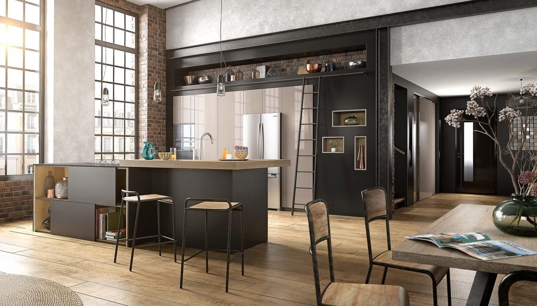 cuisine factory chez mobalpa. Black Bedroom Furniture Sets. Home Design Ideas