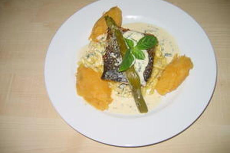 Dos de saumon grillé au basilic et ses spätzles