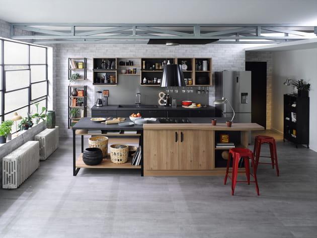 Cuisine trend edge ch ne honey square laqu m tal de cuisinella - Cuisinella paris 11 ...