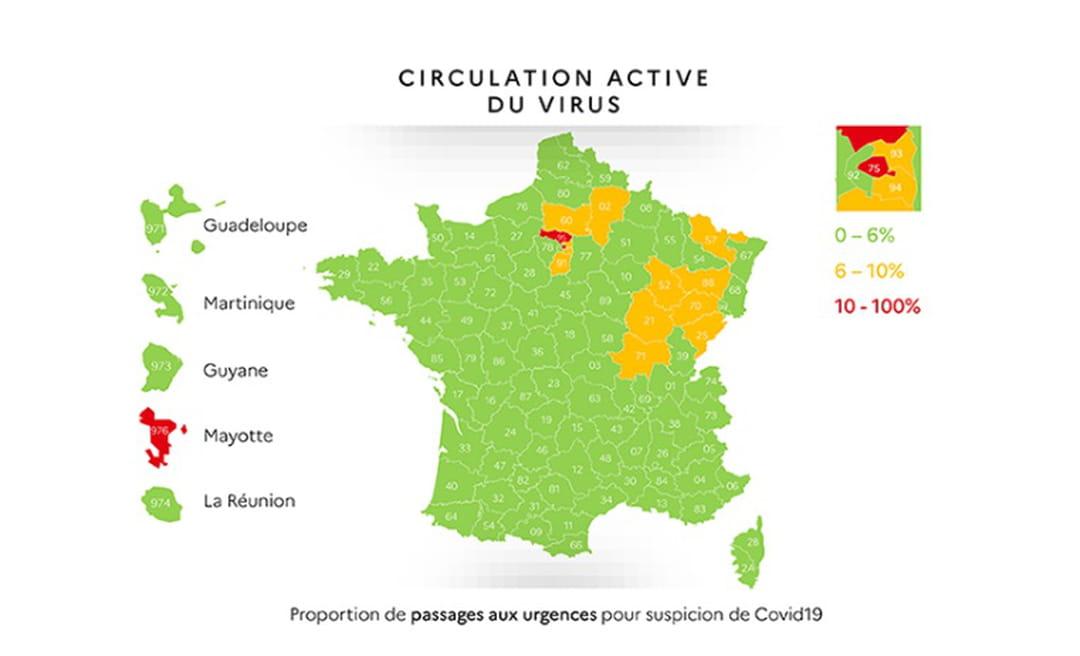 carte coronavirus 7 mai