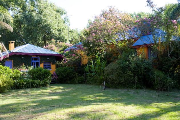 Jardin frais et ombragé
